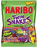 Haribo of America Twin Snakes Gummi Candy, Assorted Sweet and Sour Flavors, 5 Ounce (2 Dozen)