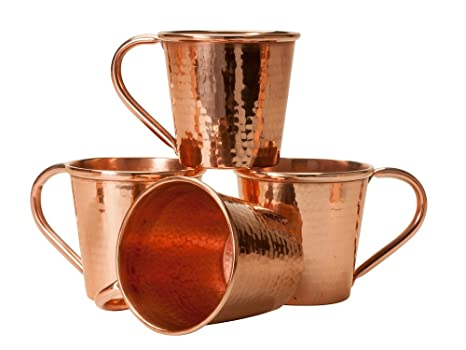 Moscow Mule Copper Cups Set of 4 Mugs 12 ounces each