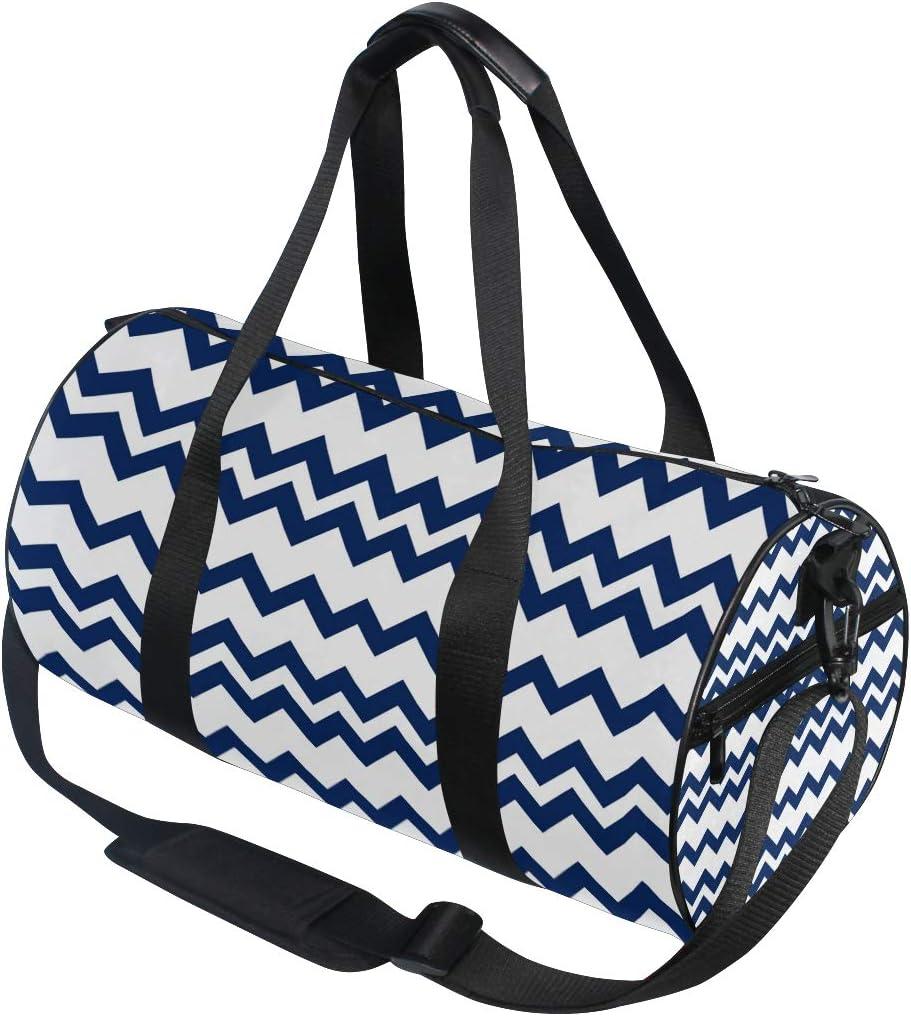MALPLENA Blue Wave Line Drum gym duffel bag women Travel Bag