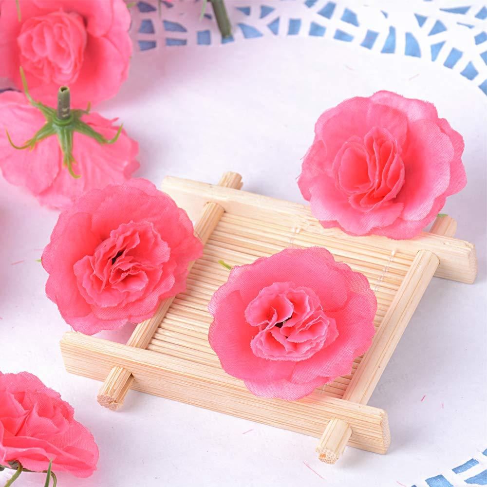 Avorio BUONDAC 50 pz Teste di Rose Fiori Artificiali Seta Finte Piccole per Decorazioni Matrimonio Festa