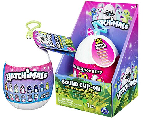 Hatchimals Mystery Minis Mini Clip-On Plush + Hatchimals Sound Clip-On Mystery Plush - Playtime Toy Set, Stuffed Toy Gift Bundle