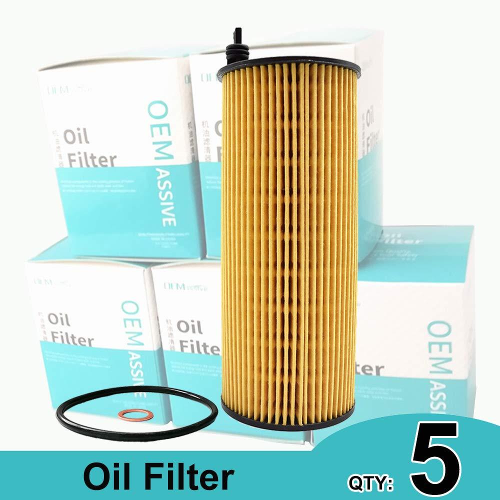 5 filtri olio 11427805707 per E81 E83 E84 E88 E90 F11 F02 F03 F15 120d 123d 320d 520d M550d 750d xDrive M50d