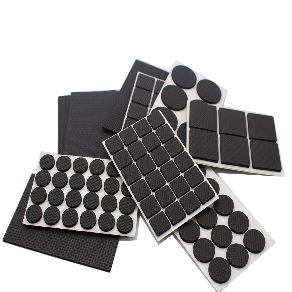 ligeras y resistentes; unidades en varios tama/ños de la marca REYALO 186 almohadillas de goma con dise/ño antideslizante para patas de muebles