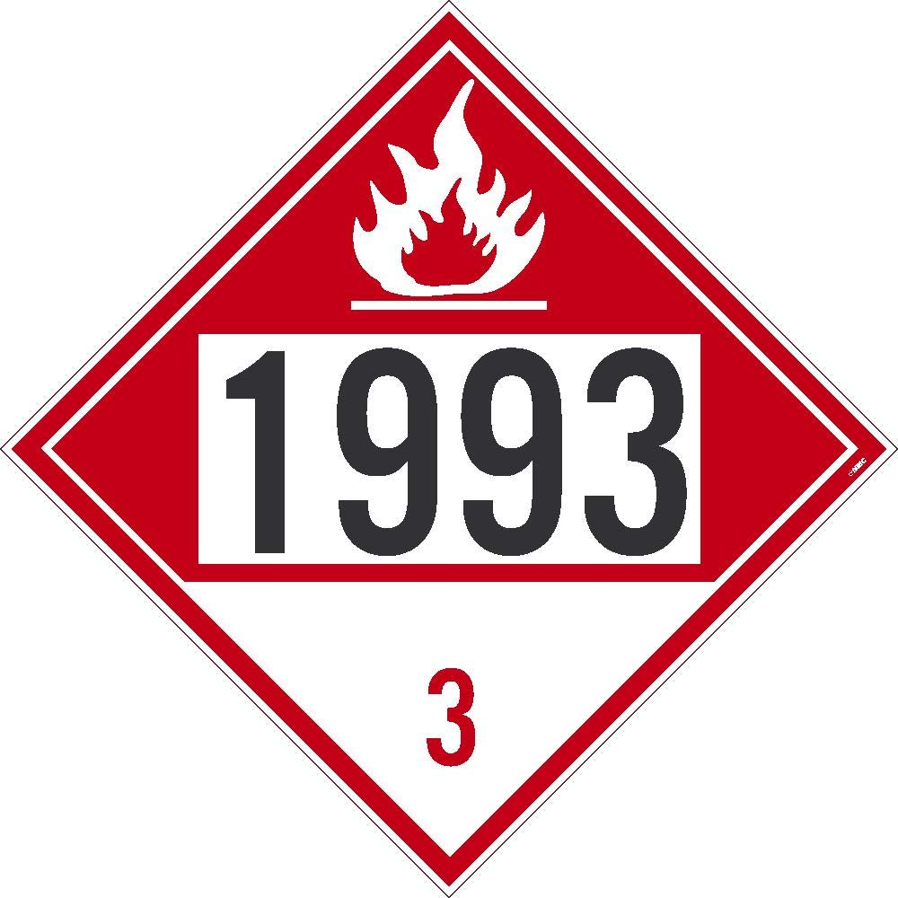 NMC DL73BTB 1993 3 Dot Placard Sign National Marker Company