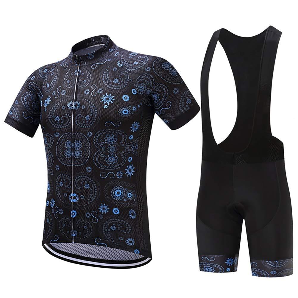 TOUK Radfahren Jersey Reflektierende Maillot Ropa Ciclism Männer Fahrrad Jersey Radfahren Tuch 3D Pad Outdoor-Trikot, XL