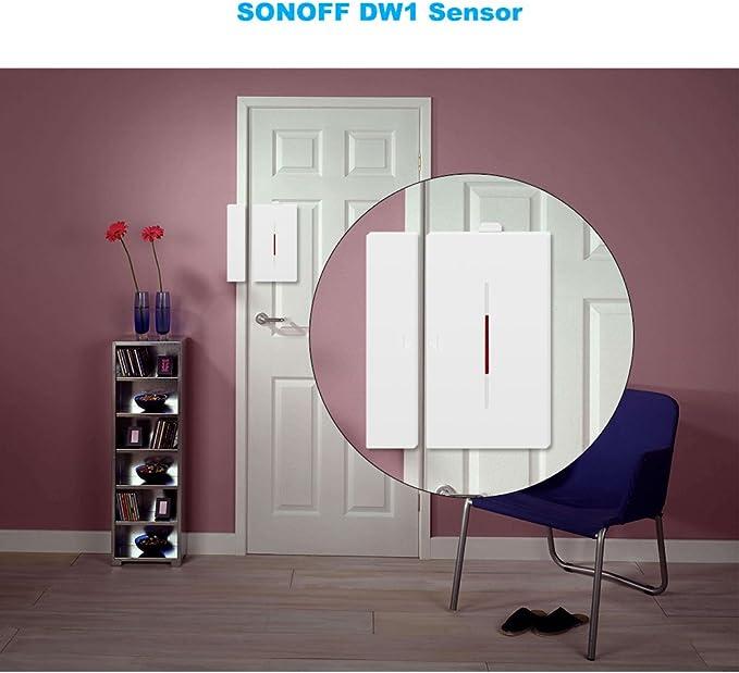 SONOFF Sensores de Puertas y Ventanas 433Mhz DW1 Alarma Anti-Robo Compatible con Puente RF para Sistema de Alarma en Casa Inteligente, 3PCS: Amazon.es: Bricolaje y herramientas