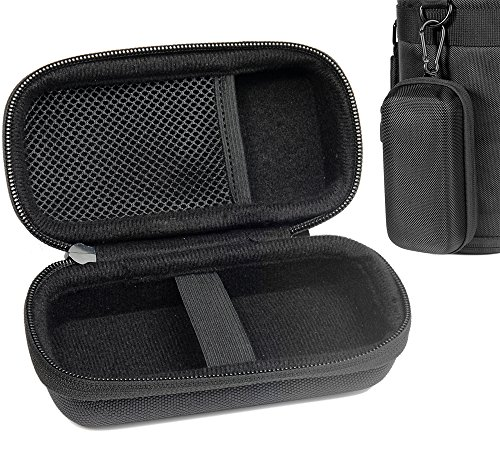 Digital Voice Recorder Case for Sony ICDPX370, PX440, PX470, BX140; Olympus WS-852, WS-853; KIMAFUN 2.4G and XIAOKOA 2.4G Wireless Lavalier Microphone, mesh pocket in the lid, detachable wrist strap by WGear