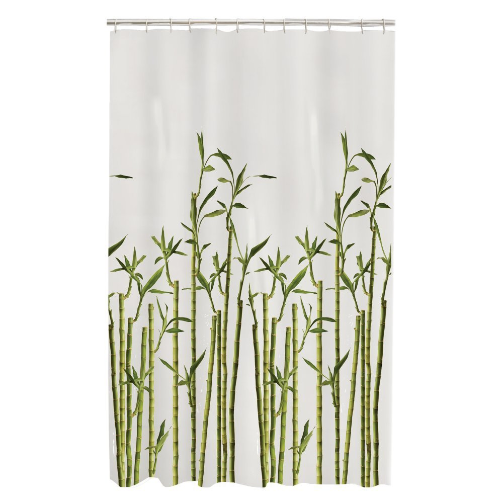 Bamboo shower curtain - Amazon Com Maytex Bamboo Photo Real Peva Vinyl Shower Curtain Home Kitchen