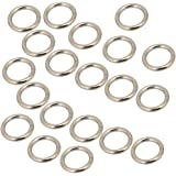 Silver Metal O Ring Buckle for Purses Bags Backpack Straps Set of 20