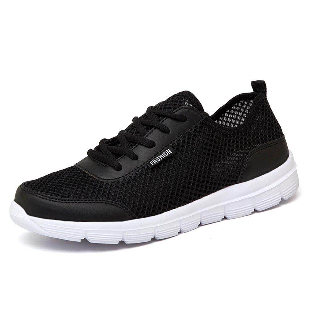 L LOUBIT Men Fashion Sneakers 2018 Summer Brand Walking Shoes Sport Mesh Shoes Black 10