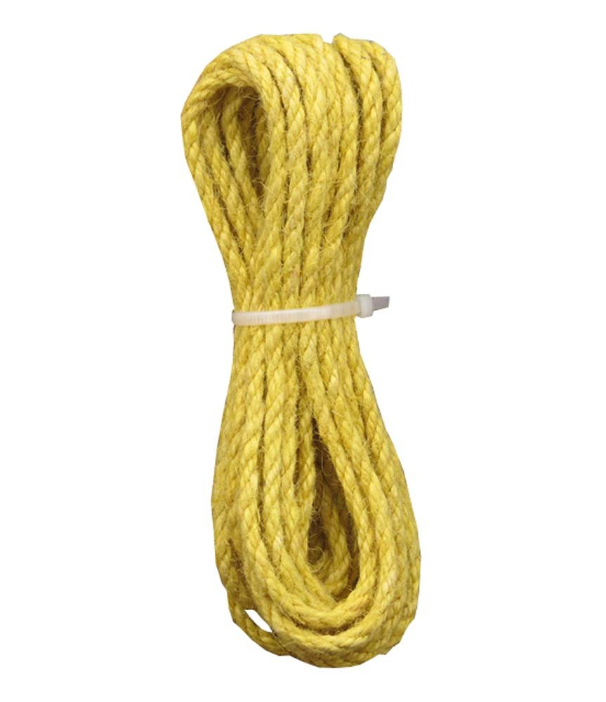 32 ft 5mm Yellow Colored Jute twine Jute String for Making Craft Project