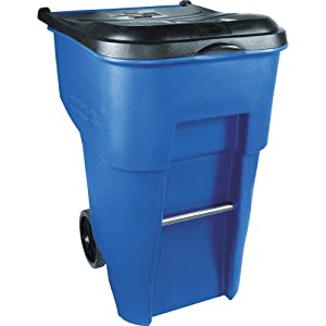 Rubbermaid Commercial Products BRUTE Rollout Waste/Utility Container, 95-gallon, Blue (FG9W2273BLUE)