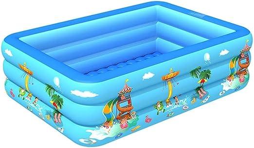 YUNZUN Piscina Hinchable Familiar Swim Center, Piscina Rectangular para niños, Piscina Infantil para niños Ocean Life, Piscina para niños pequeños 83 x 54 x 22 Pulgadas: Amazon.es: Jardín
