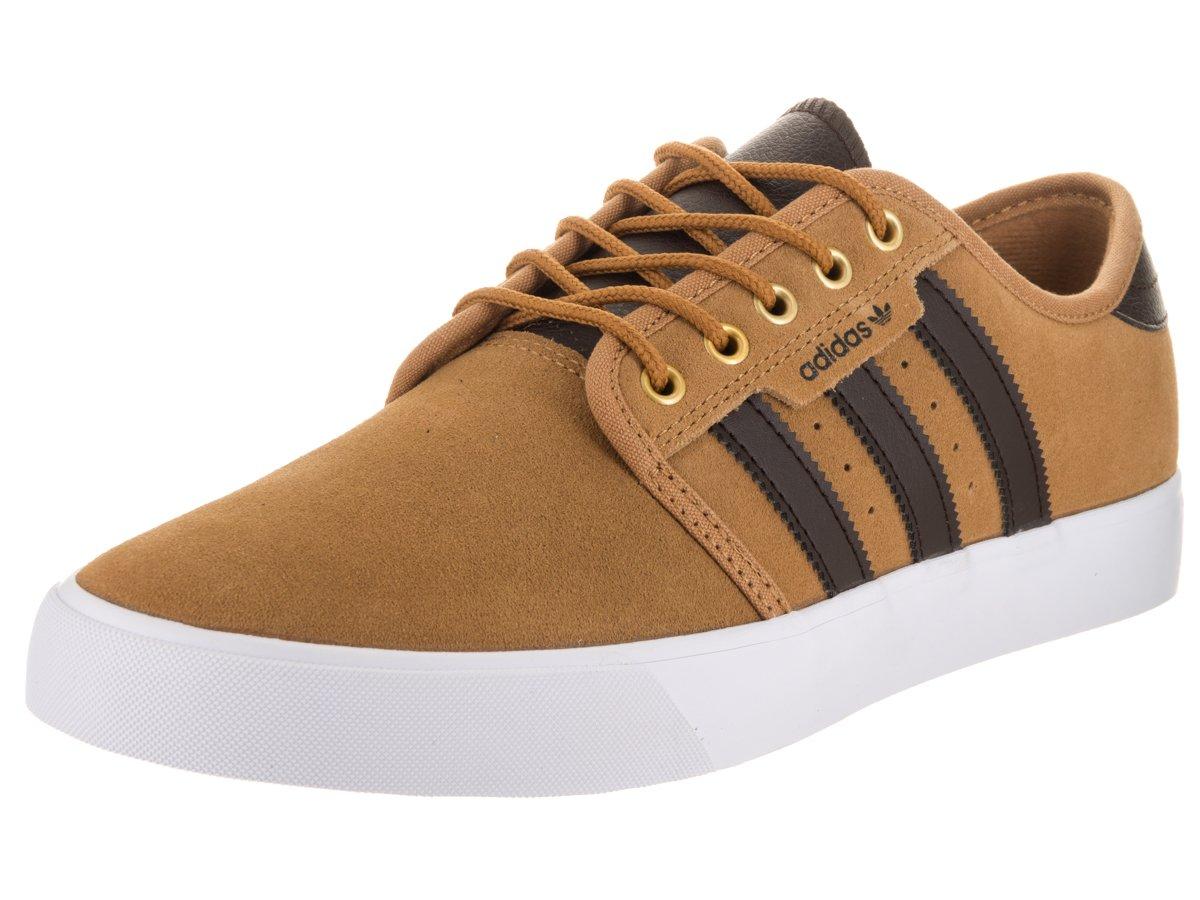 promo code 1e49f dfc19 Galleon - Adidas Skateboarding Men s Seeley Mesa Dark Brown White Athletic  Shoe