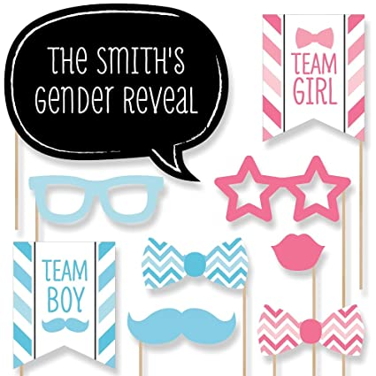 Amazoncom Big Dot Of Happiness Custom Chevron Baby Gender Reveal