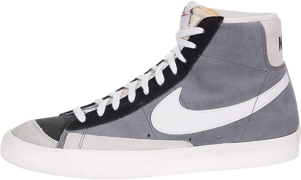 Montón de seda Vientre taiko  Amazon.com: Nike Blazer Mid 77 Vintage Cool Grey White Black - Ci1167-001 -  Size 12: Shoes