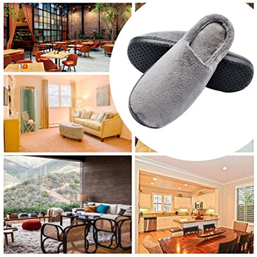 Pictures of Men's Wool Plush Slippers | Fleece Lined SL00234647G 3