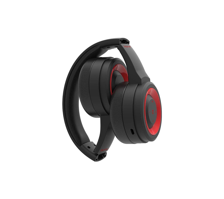 iHome iB99BRC Bluetooth Wireless Headphone, Red/Black