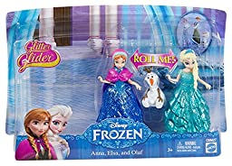 Disney Frozen Glitter Glider Anna, Elsa and Olaf Doll Set