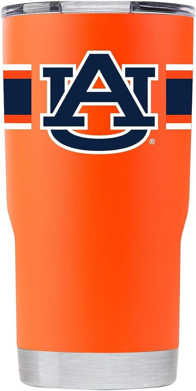 Gametime Sidekicks Auburn 20oz Orange Stainless Steel Tumbler w//Stripes