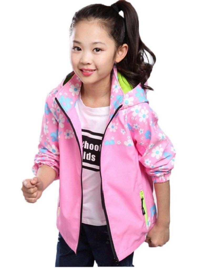 Ausom Fashion 2017 Latest Girls Mesh Windproof Flower Print Jacket by Ausom