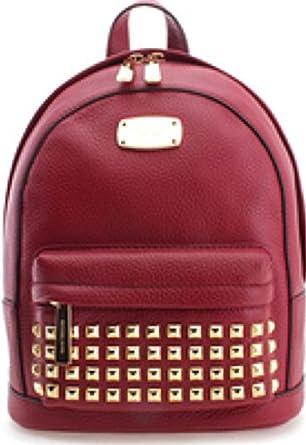312397742717dd Amazon.com | Michael Kors Jet Set Item Studded XS Backpack Cherry ...