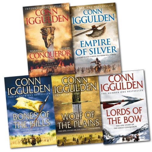 Conqueror Series 5 Books Collection Pack (Conqueror, Bones of the Hills, Wolf of the Plains, Lords of the Bow...(Conn Iggulden)