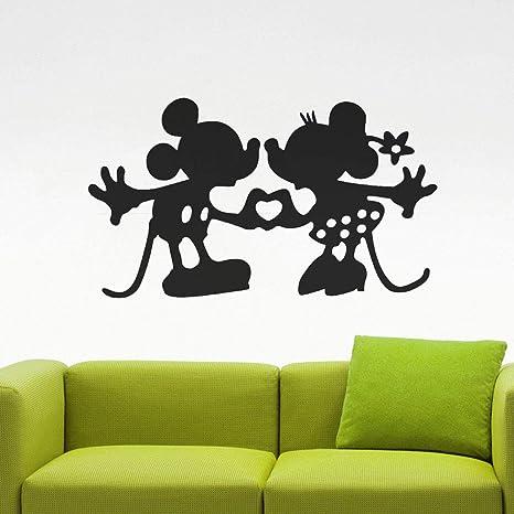 Mickey y Minnie se besan amor corazón vinilo tatuajes de pared ...