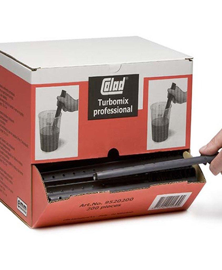 COLAD Turbomix Agitador/varilla mezcladora 30 x 3 cm/200 unidades en caja dispensadora