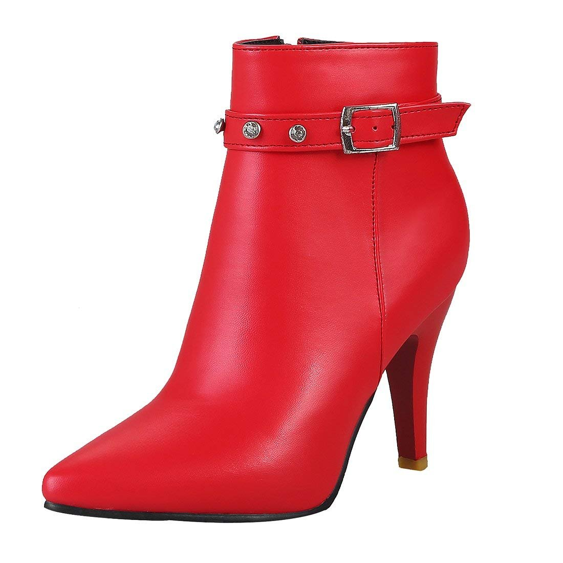 YE Bottine Sexy Strass Femme Talon Haut Aiguille Bottes Zip Chaussure  Hiver  Amazon.fr  Chaussures et Sacs 55f289337086