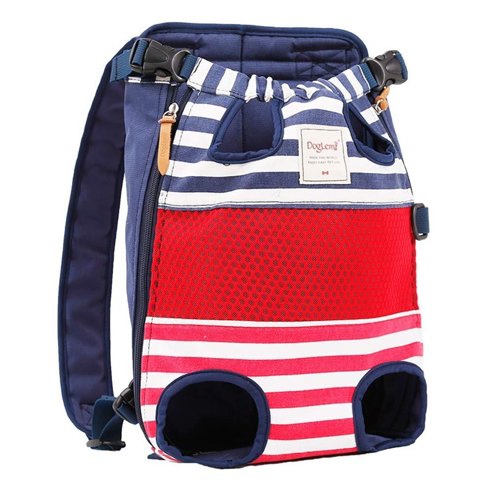 B Pet Outing Backpack Adjustable Pet Front Cat & Dog Backpack Travel Bag Suitable for Travel Hiking,B