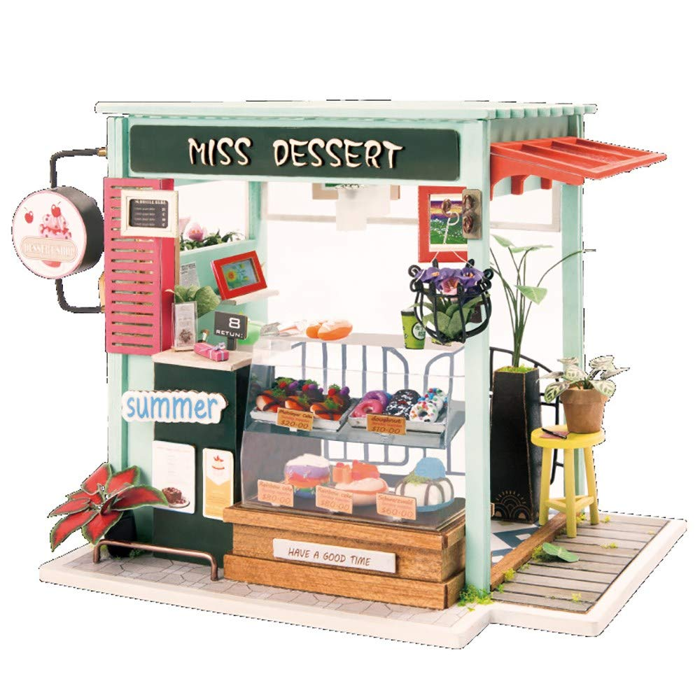3D dreidimensionales Puzzlespiel/Mini-DIY Hütte/kreative Handarbeit aus Holz Modellhaus Kunst/Kreative Geschenke,A
