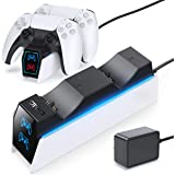 OIVO PS5 Dual Controller Charger Docking Station Compatible with Playstation 5 PS5 DualSense Controller, Fast Charging Dock S