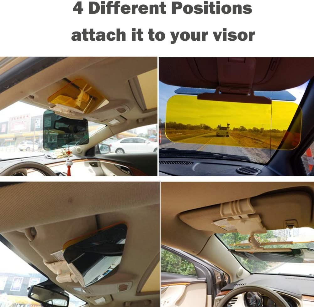 BREEZEY 2In 1 Car Sun Visor Extension Anti-Glare Extender Windshield Driving Visor Sunshade Blocking
