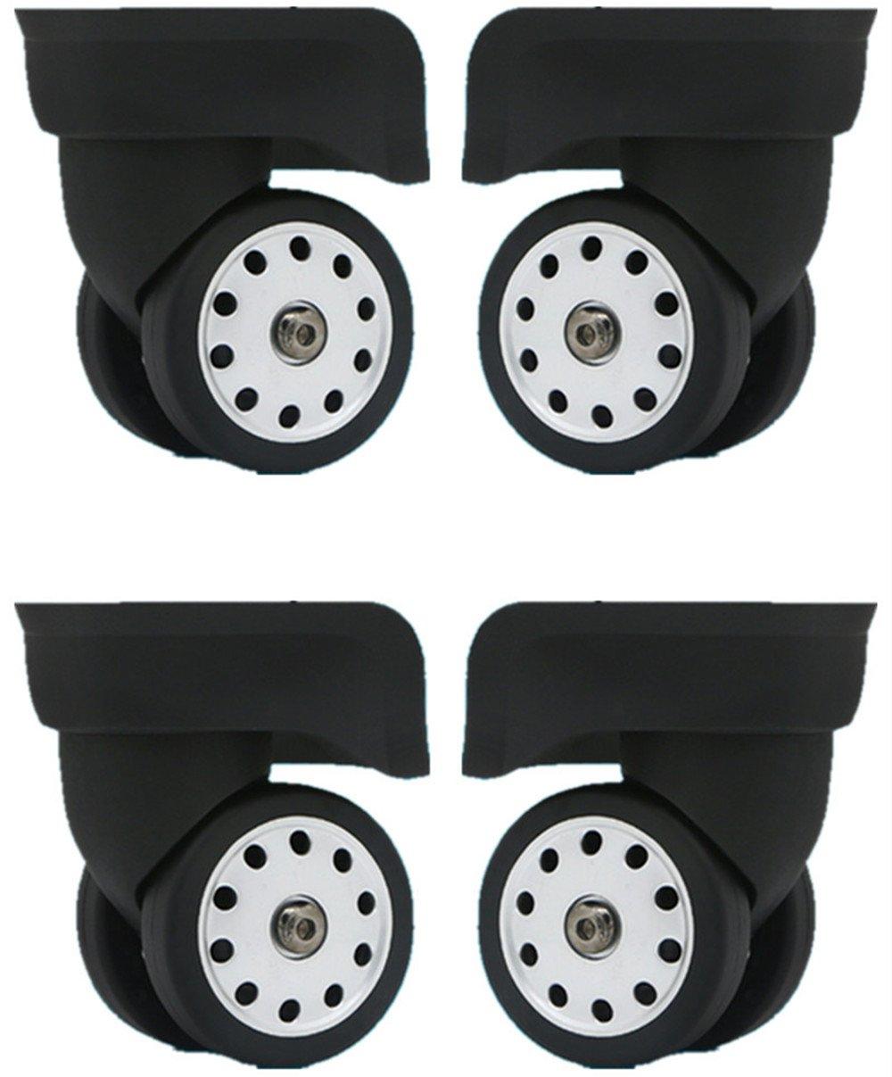 Replacement luggage wheels W046# L Size (Di Long) replacement plastic wheels / luggage spinner wheels (2 pair / set)