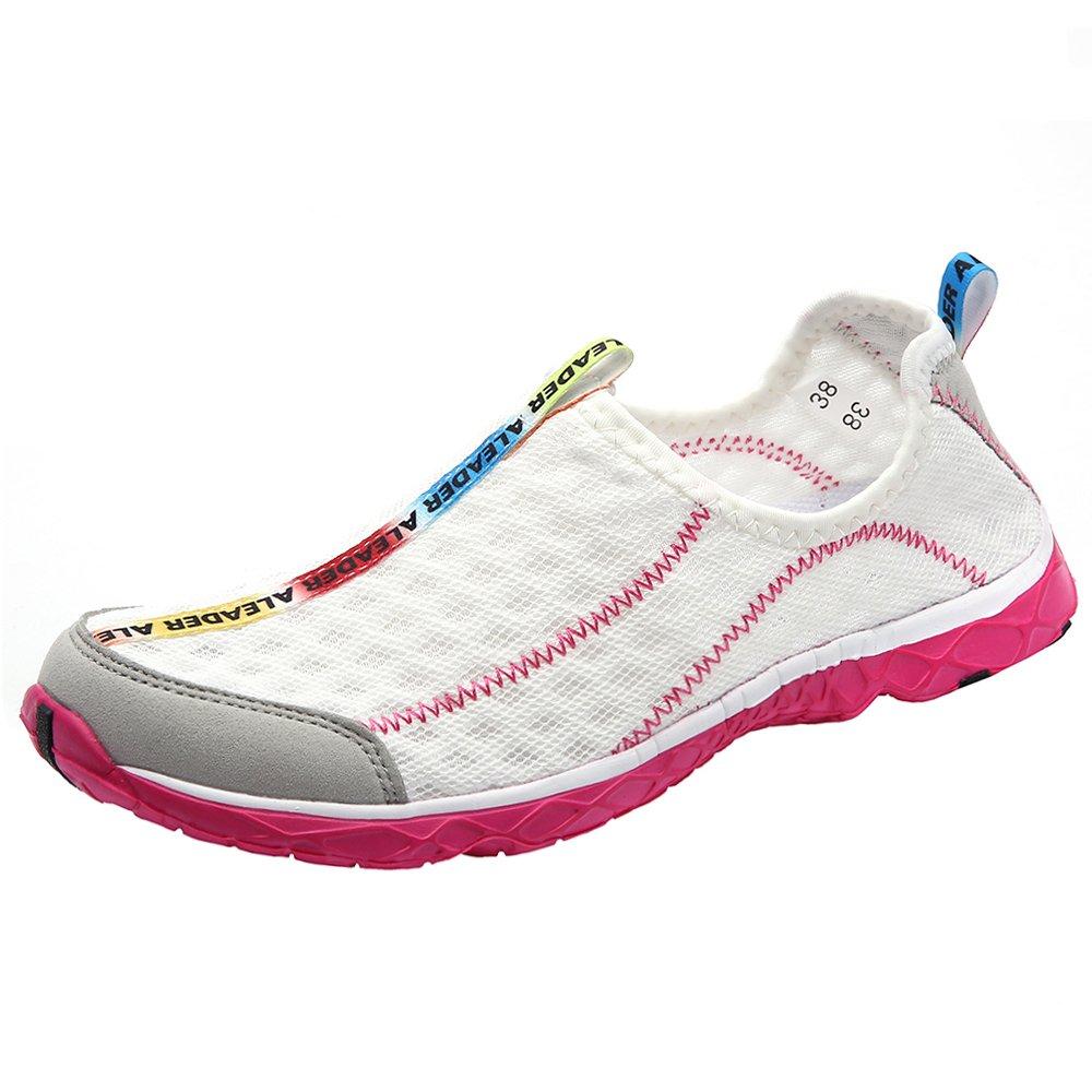 ALEADER Women's Mesh Slip On Water Shoes White 10 D(M) US by ALEADER