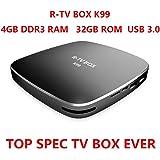 Omikai R-TV BOX K99 RK3399 4GB RAM 32GB ROM 6 Cores 64-Bit Android 6.0 USB 3.0 BT 4.0 Dual Wifi Type-C Display Port 4K FHD UHD Smart Media Player