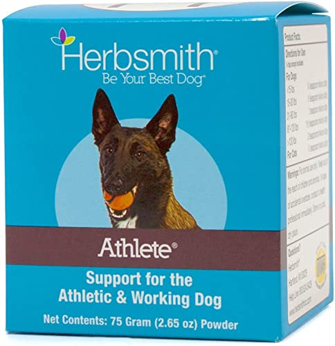 Herbsmith Athlete Canine Endurance Supplement for Working and Agility Dogs For the Canine Athlete 75g Powder
