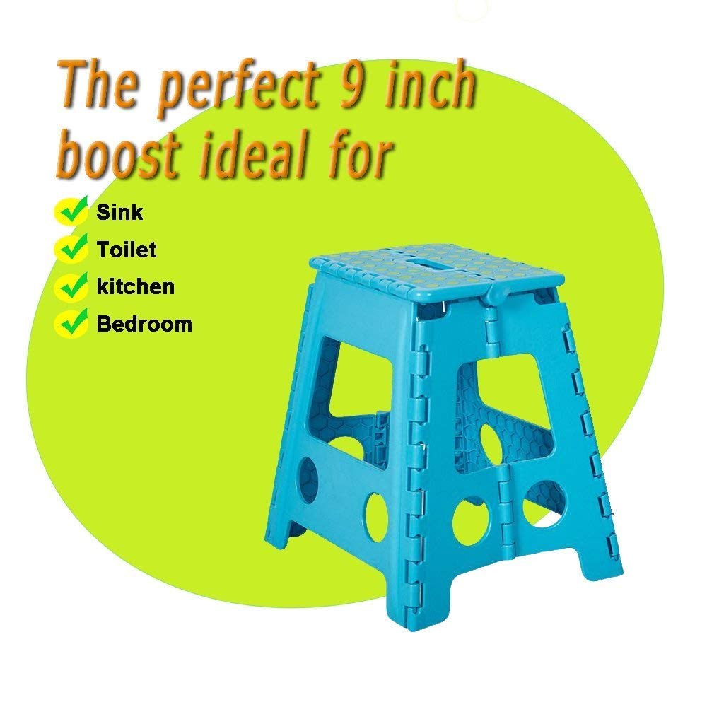 Dporticus Foldable Step Stool with Handle for Kids /& Adults Portable Super Strong Folding Kitchen Garden Bathroom Stepping Stool