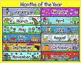 amazon months of the year chart kid drawn inc carson dellosa