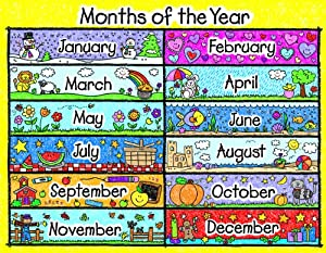 ... Months of the Year Chart (114087) : Months Teaching Labels : Office