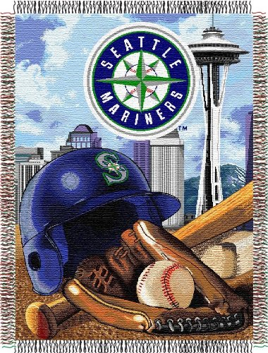 Woven Triple Layer Tapestry Throw (Seattle Mariners Woven Tapestry Throw Blanket)