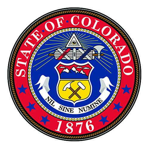 RDW Colorado State Seal - Color Sticker - Decal - Die Cut - Size: 1.25