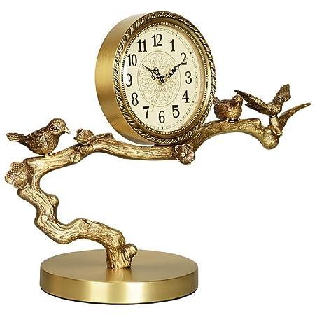 Gububi-Home Reloj de Mesa Estilo Europeo Latón Reloj de la Sala ...