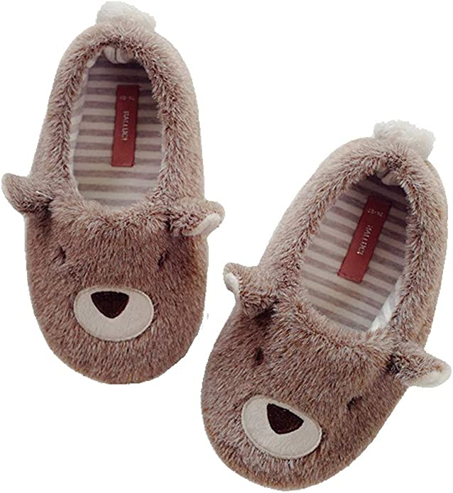 Cattior Toddler Little Kid Bow Cute Girls Slippers House Shoes