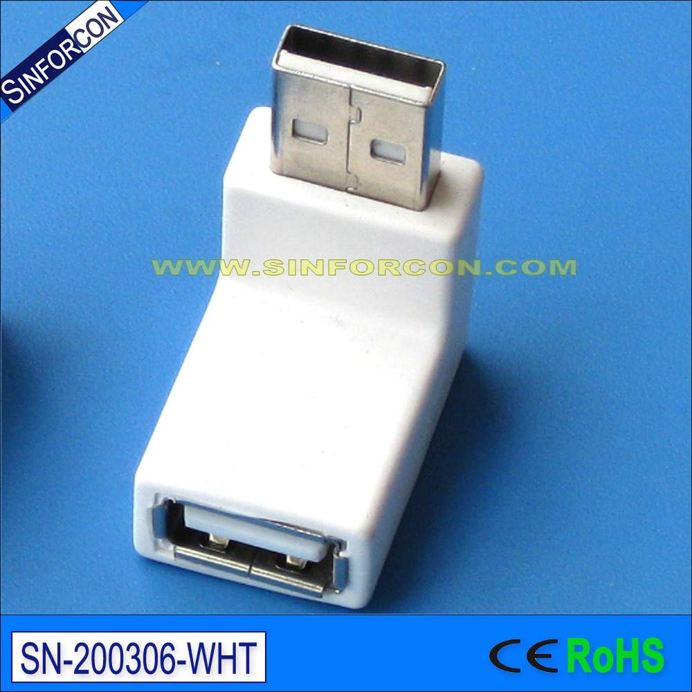 Computer Cables l Shape usb3 0 Gender Changer Angled USB Male to Female Adapter Cable Length: usb2dot0, Color: Black Color