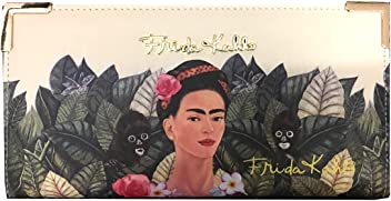 Frida Kahlo Jungle Collection Licensed Clutch with Long Strap