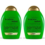 OGX Organix: Tea Tree Mint Hydrating Shampoo + Conditioner, 13 oz Combo Pack