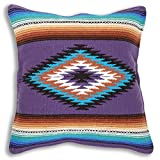 Serape Throw Pillow Cover, 18 X 18, Hand Woven in Southwest and Native American Styles. 16