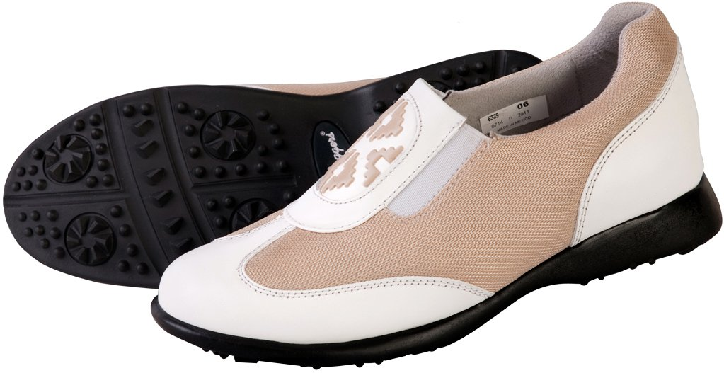 Sandbaggers Bali Mesh Women's Golf Shoes (Tan, 9)
